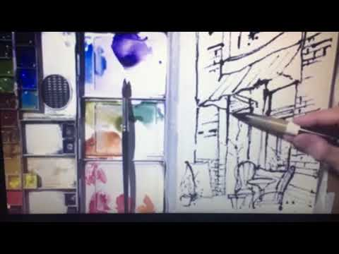 How to Paint an Ink and Wash Cafe Scene with Chris Petri