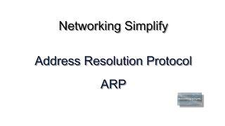Address Resolution Protocol - ARP Basic Concept