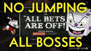 Cuphead: King Dice, All Mini-Bosses, No Jumping Challenge