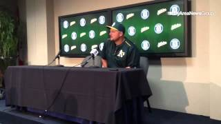 #Athletics DH Billy Butler on returning to Kansas City, where he played the last decade.