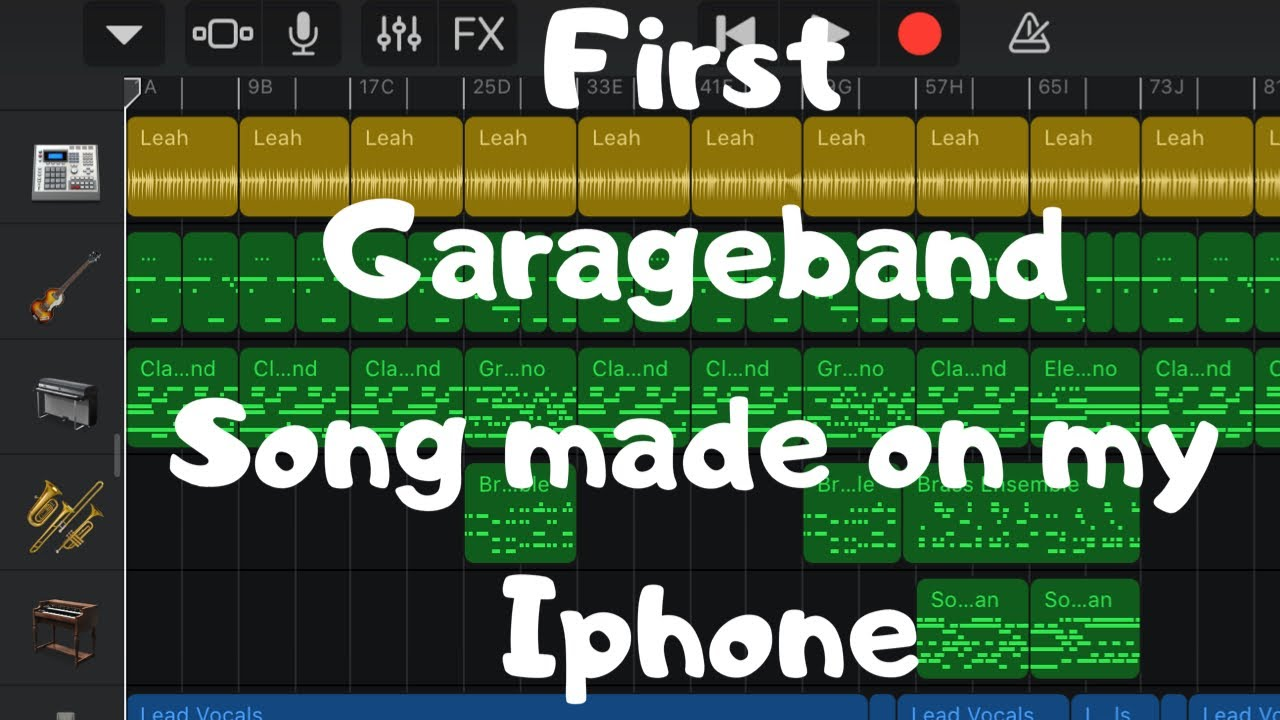 My first song using Garageband IOS
