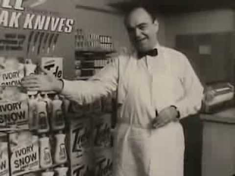VINTAGE 60s IVORY SNOW, TIDE AD  JAMES COCO PROMOTING A FREE DEADLY WEAPON IN EVERY PACKAGE