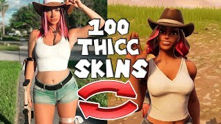 TOP 100 THICC FORTNITE SKIN IN REAL LIFE..!