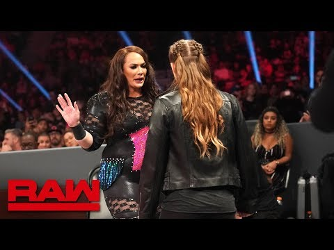 Ronda Rousey and Nia Jax\'s face-to-face gets heated: Raw, Dec. 10, 2018