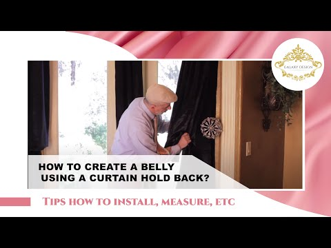 Video #47: Tips From Us: How to place drapery panels on a hold back the right way