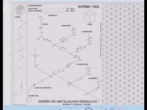 interpretacion de planos hidraulicos e isometria con On diseño de planos hidraulicos