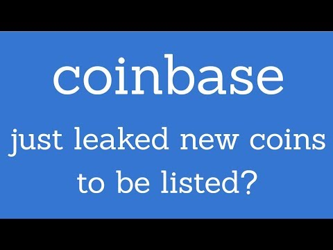 Did Coinbase just leak the new coins they're listing?!