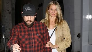 Cameron Diaz And Benji Madden Take A Late Night Visit To The Salon