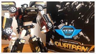 QUATRAN black 4PART Tobot transforming robot car toys police car fire engine 또봇 쿼트란 블랙에디션 자동차합체 변신로봇