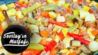 Etli Sebze Kebabı Nasıl Yapılır? | Fırında Etli Türlü Tarifi