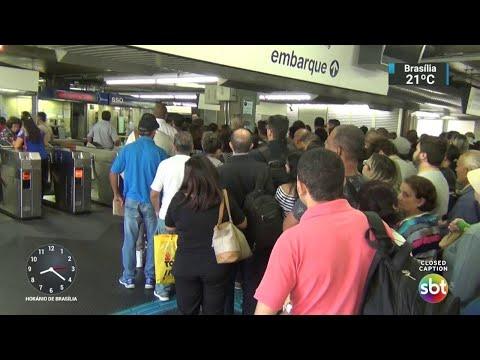 Em São Paulo, 23 estações param por falta de energia | SBT Brasil (24/04/18)