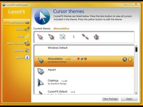 CursorFX Plus (free) download Windows version