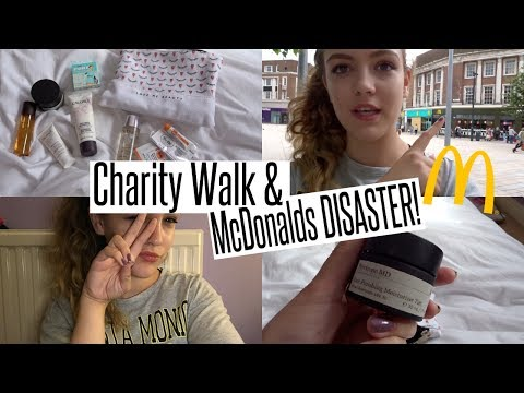 VLOG: Charity Walk & McDonalds DISASTER!