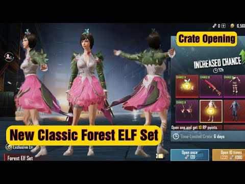 Forest Elf Set - New Classic Crate Opening Mythic Set - Pubg Mobile