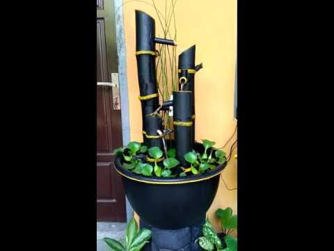 Air Terjun Mini Bambu Youtube