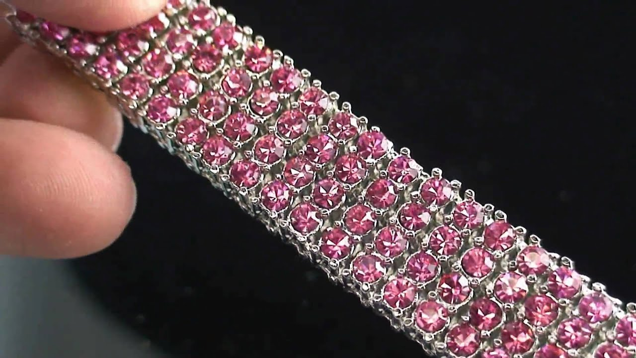 jewelers products pink white of and diamond bracelet cj charles