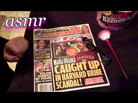 Quiet ASMR 🎧 Commenting & Gently Browsing The Globe Tabloid magazine