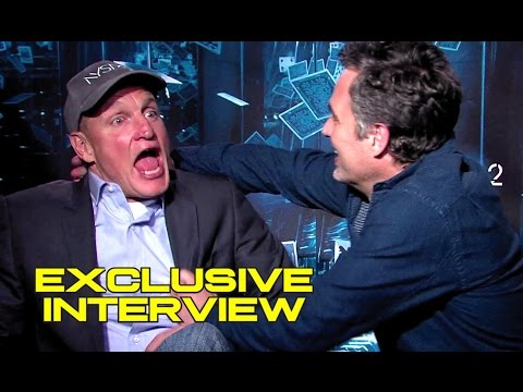 Exclusive Mark Ruffalo & Woody Harrelson Interview for NOW YOU SEE ME 2 (2016) JoBlo.com