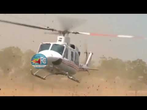 AP CM YS Jagan SUPER Helicopter Entry In Pulivendula || FILM CITY
