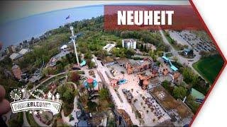 REKORD! Highlander (Hansa-Park) OnRide - Fahrt Video neuer Free Fall Tower 2019