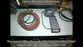 Used Miller Econotig Welding Power Supply with Cart. DCM 1833