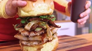 Great Burger Of Chinatown - 4 Meats, Bbq Pork Buns- Mtv