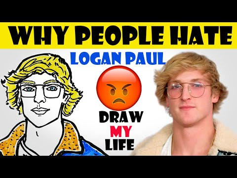 Draw My Life : Logan Paul (Why people Hate Logan Paul !!!) - 동영상