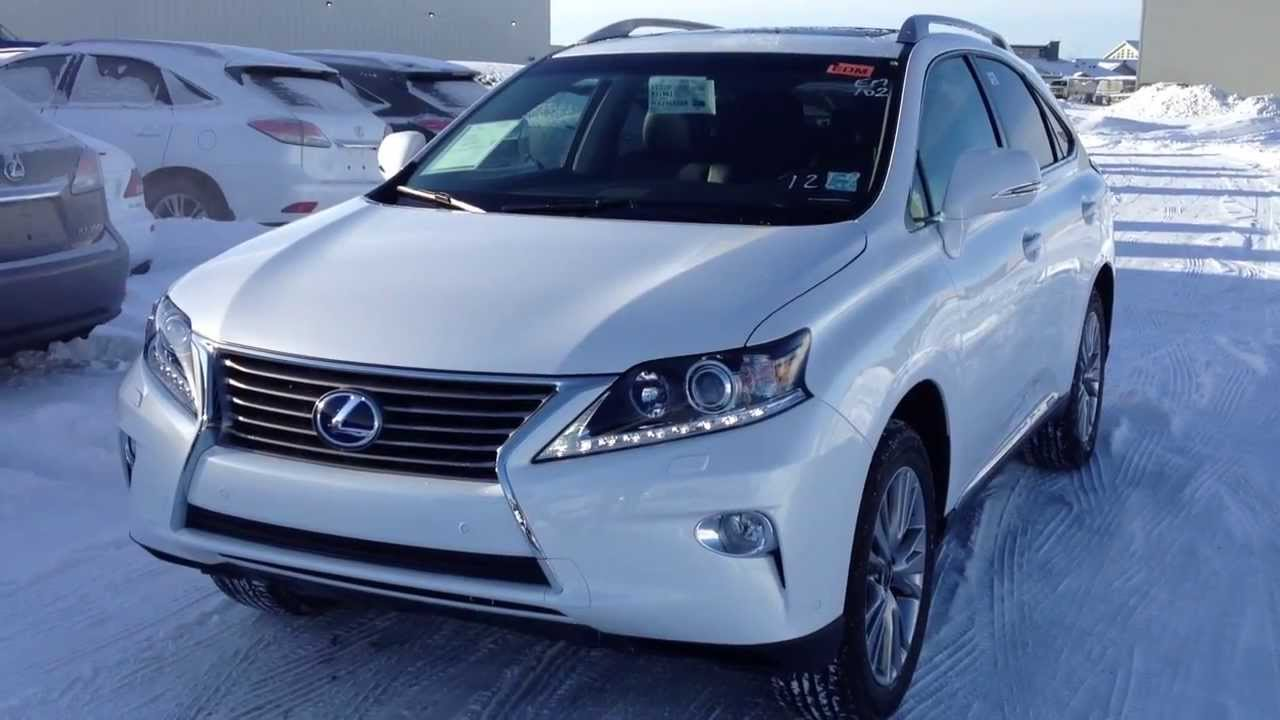 Charming 2014 Lexus RX 450h Hybrid AWD In White Touring Package Review