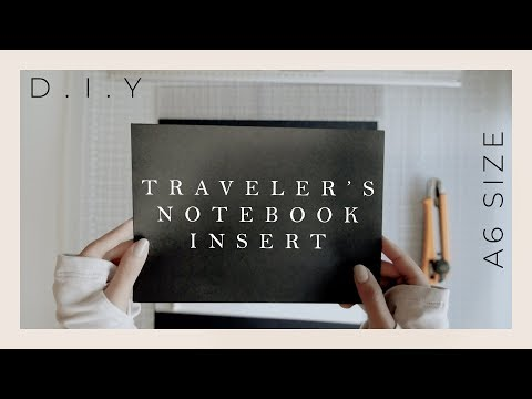 A6 Traveler's Notebook Insert DIY | Mixed and Black Paper Insert