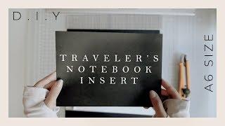 A6 Traveler's Notebook Insert DIY   Mixed and Black Paper Insert