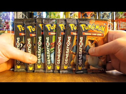 7 Pokemon Generations Booster Pack Opening