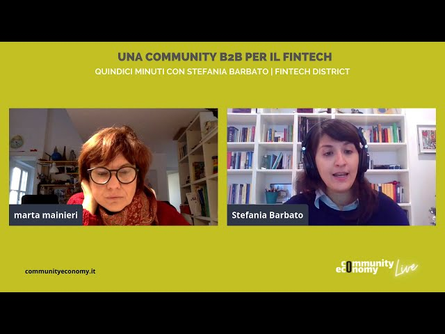 15 Minuti con Stefania Barbato | Fintech district