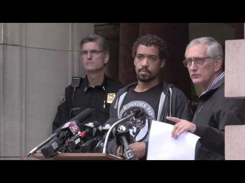 Portland mayor, police chief and activist speak at City Hall press conference