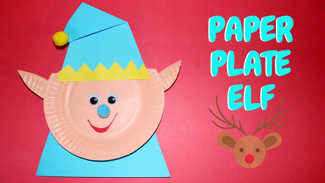 Paper Plate Elf Christmas Ideas Paper Plate Crafts Youtube