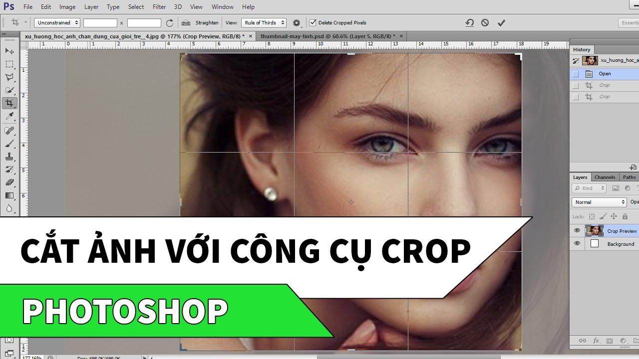 Photoshop | Cắt ảnh với công cụ Crop