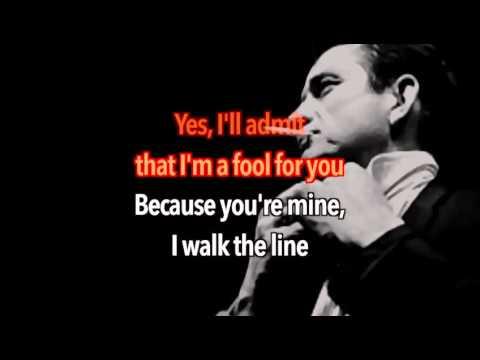 Johnny Cash - I Walk The Line (Karaoke)