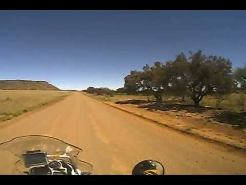 BMW GS 1200  Adventure offroading Clocolan to Marquard South Africa.AVI