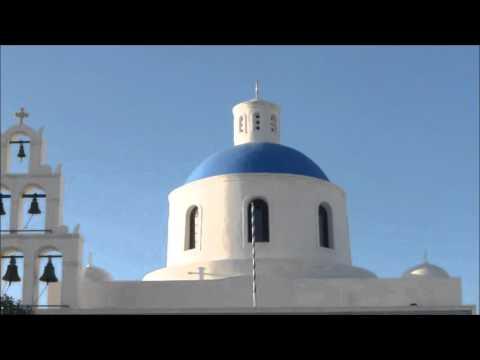 SANTORINI - the Beautiful Greek Island in the Aegean Sea