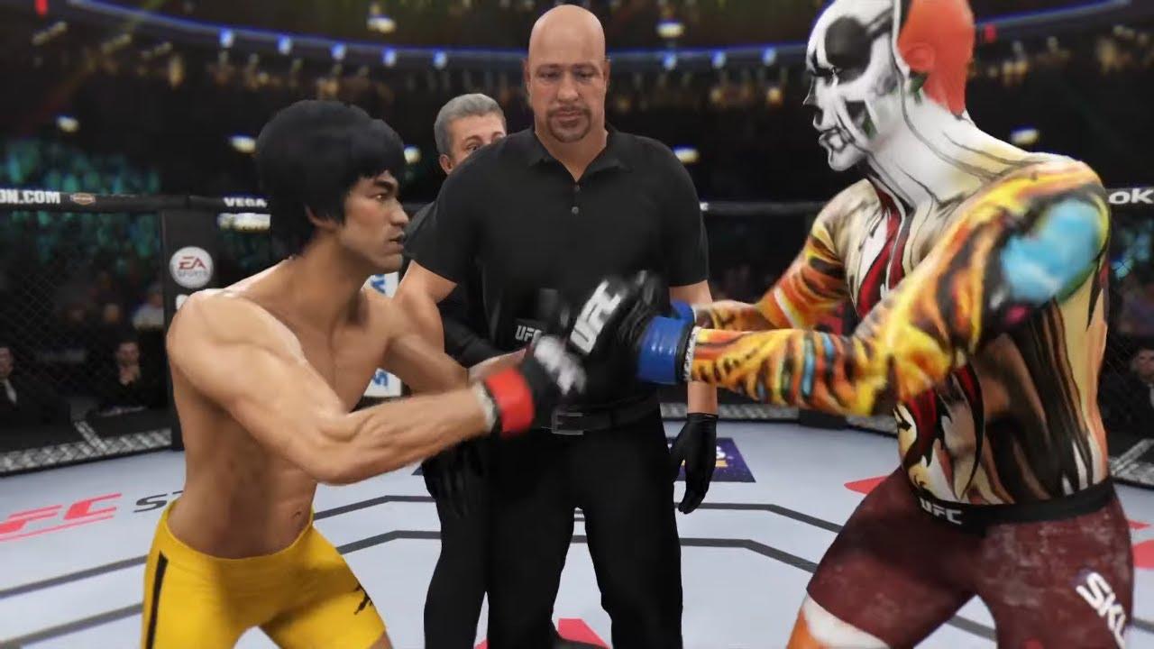 Bruce Lee vs. Fire Dragon Skull (EA sports UFC 3)