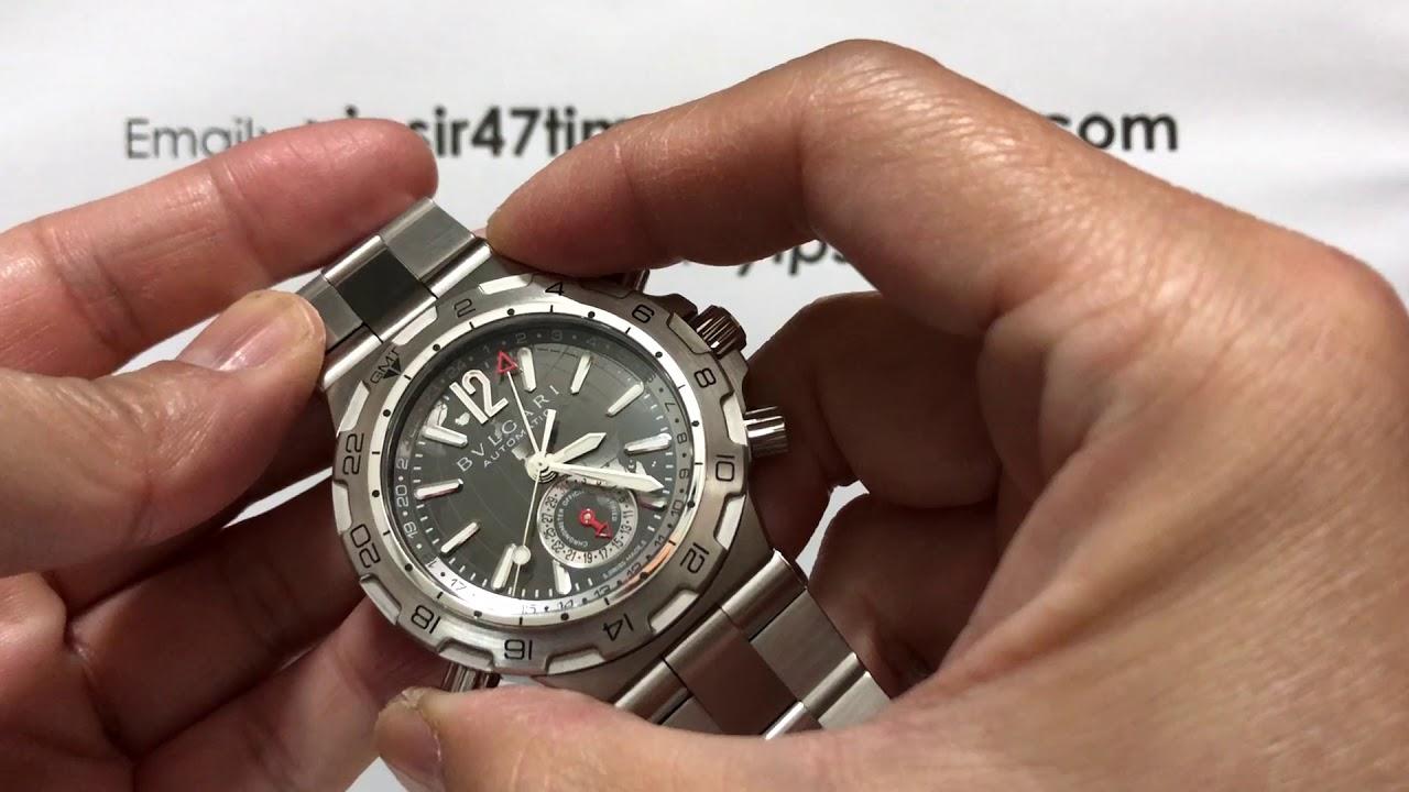 ef1d5cfc141 BVLGARI DIAGONO GMT 42mm - YouTube