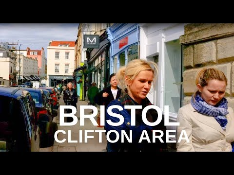 CLIFTON, BRISTOL, UK - Town to Suspension Bridge