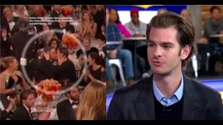 Andrew Garfield On Ryan Reynolds Kiss At Golden Globes, New Movie 'Silence'