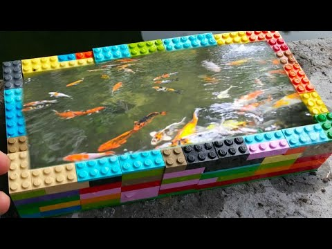 DIY LEGO AQUARIUM Fish POND!!!