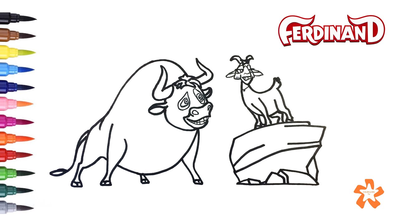 ferdinand coloring pages Ferdinand   How to color Ferdinand and Lupe   Coloring Pages For  ferdinand coloring pages
