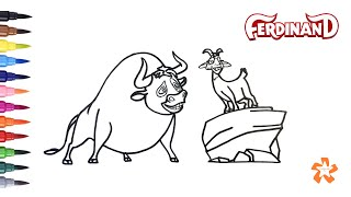 Ferdinand - How to color Ferdinand and Lupe - Coloring Pages For Children With Color & Kids TV