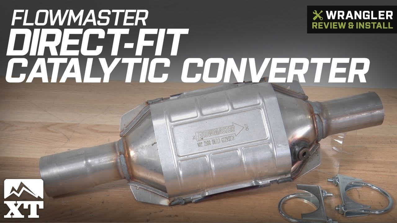 medium resolution of jeep wrangler flowmaster direct fit catalytic converter 1997 2000 2 5l 4 0l tj review