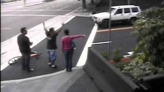 My Hit and Run caught on video Surveillance at NBC Universal (short version)
