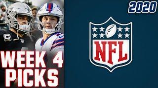 NFL WEEK 4 PICKS 2020 NFL GAME PREDICTIONS   WEEKLY NFL PICKS