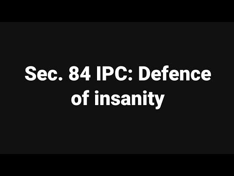 section 84 ipc