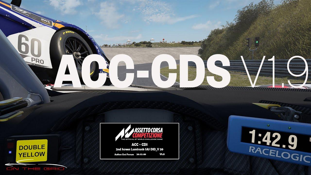 ACC CDS V1.9 Lumirank, Pitscreens, Motec and Racelogic